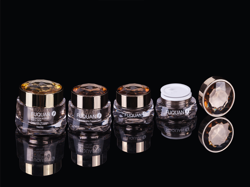 Square Base-Top Diamond Cap Jar Series